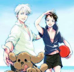 on Ice [fan arts] Love On Ice, ユーリ!!! On Ice, Ice Candy, Yuuri Katsuki, Ice Art, Manga Characters, Yuri On Ice, Cute Boys, Webtoon
