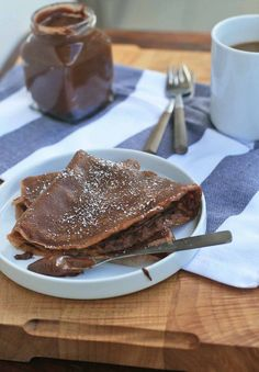 Gluten-Free Chocolate Crêpes - Girl Cooks World Gluten Free Pancakes, Gluten Free Breakfasts, Gluten Free Desserts, Healthy Desserts, Gluten Free Recipes, Delicious Desserts, Yummy Food, Chocolate Crepes, Gluten Free Chocolate