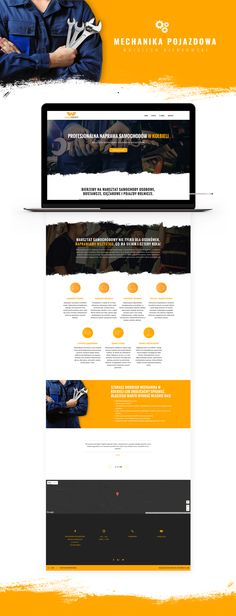 "@Behance: ""Mechanika Pojazdowa Website"" https://www.behance.net/gallery/57769841/Mechanika-Pojazdowa-Website  Mechanic, cars, repair, orange, renovation, tires"