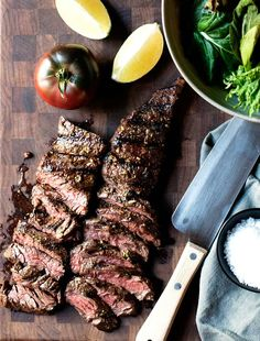 With a simple Carne Asada Marinade with fresh citrus juices and spices, you can make the most delicious Carne Asada recipes! Throw Carne Asada on the grill / BBQ and in less than 15 minutes you'll have dinner! Healthy Grilling Recipes, Grilled Steak Recipes, Meat Recipes, Mexican Food Recipes, Cooking Recipes, Ethnic Recipes, Grilled Meat, Mexican Dishes, Grilling Ideas