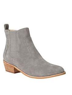 Chelsea booties | Gap gray booties - LOVE!