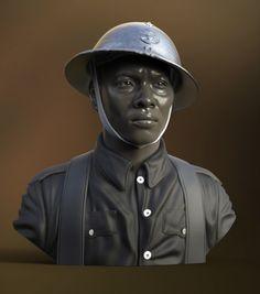 French World War II soldier, Sebastian Ordon on ArtStation at https://www.artstation.com/artwork/L4e3K