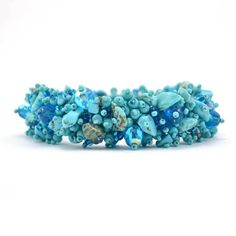 Magnetic Stone Caterpillar Bracelet Turquoise - Lucias Imports (J)