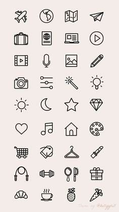 25 Easy Doodle Art Drawing Ideas For Your Bullet Journal Instagram Logo, Free Instagram, Instagram Symbols, Instagram Templates, Instagram Story Template, Mini Drawings, Cute Easy Drawings, Simple Doodles Drawings, Small Drawings