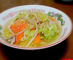 野菜炒めいっぱいのせていただきま~す♪ - 34件のもぐもぐ - タンメン by sakachinmama
