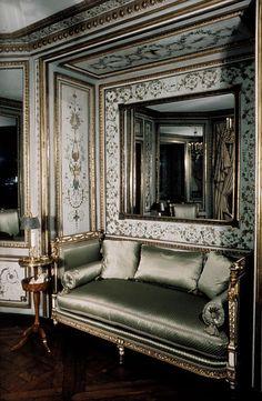 Marie Antoinette's cabinet de toilette (dressing room), Palace of Saint-Cloud, France