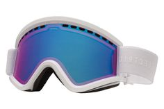 Electric - EGV Gloss White Goggles, Rose/Blue Chrome Lenses
