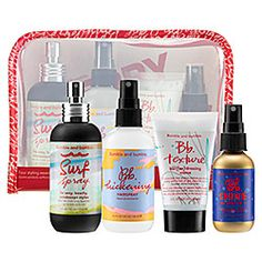 BUMBLE AND BUMBLE Bb. Stylist Editions Kit Comes with 2 oz Bb. Shine On Finishing Spray, 4 oz Surf Spray, 2 oz Bb. Texture, 4.2 oz Bb. Thickening Hairspray All of Bb's products are absolutely fantastic. They smell great and they make your hair look wonderful.  $48