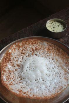 Homemade Appam Recipe / Easy Appam Recipe / Appam Batter in Mixie Indian Breakfast, Breakfast Items, Breakfast Recipes, Snack Recipes, Cooking Recipes, Cooking Tips, Indian Snacks, Indian Food Recipes, Kerala Recipes