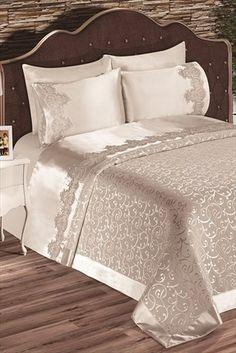 Evlen Home & Alanur Home Collection - Çift Kişilik Diana Pike Takımı Krem TİV0083 %34 indirimle 209,99TL ile Trendyol da