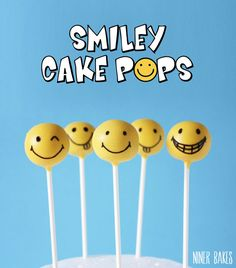 Detailed tutorial: Smiley Cake Pops! Are you a cake pop newbie? This post is right for you! by niner bakes