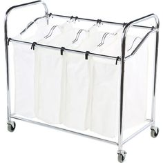 Separate whites, darks, and delicates with this canvas laundry sorter, a must-have addition to your mudroom or guest suite.  Product...