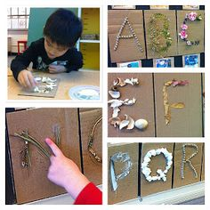 """""""That is beautiful. Materials are very important to the kindergarten classroom. Hundreds of colours, shapes, and textures. Eyfs Activities, Alphabet Activities, Kindergarten Projects, Kindergarten Classroom, Math Wall, Reggio Emilia, Homeschool Curriculum, Early Learning, Colours"""