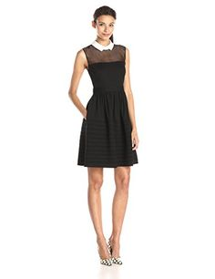 Betsey Johnson Women's White Collar Fit and Flare Dress, Black/Ivory, 2 Betsey Johnson http://smile.amazon.com/dp/B00U0ZRCAG/ref=cm_sw_r_pi_dp_uoQrvb1BAVRJV