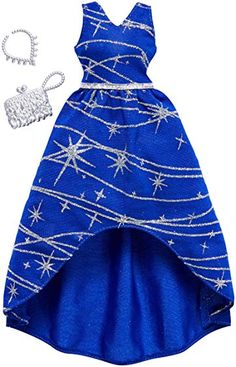 Barbie Complete Looks Navy Silver Sparkle Gown Fashion Pack Barbie Doll Set, Barbie Sets, Doll Clothes Barbie, Barbie Doll House, Barbie Outfits, Sparkle Gown, Barbie Playsets, Barbie Fashionista Dolls, Barbie Doll Accessories