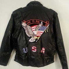 Men's Diamond Plate Buffalo Leather Jacket Hand Sewn Pebble Grain Sz Large NWT #DiamondPlate #Motorcycle