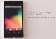 """Sony Xperia Z ya se puede convertir al """"Google Edition"""" con la primera compilación AOSP de Sony http://www.xatakandroid.com/p/93454"""