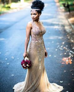 Custom Dresses inspired by Haute Couture Designer Evening Fashion Beaded evening gowns can work for Wedding Looks, Dream Wedding, Beige Wedding, Black Bride, Bridesmaid Dresses, Wedding Dresses, Custom Dresses, Boho Bride, Mode Outfits