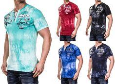 Herren Washed Polo Kurzarm Shirt Clubwear T-Shirt V-Neck Shortsleeve M-XXL    eBay daaa49c27b
