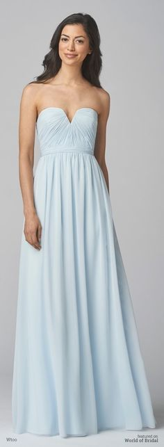 Sweetheart neckline chiffon dress with wide straps. Featuring side gathered a-line skirt.