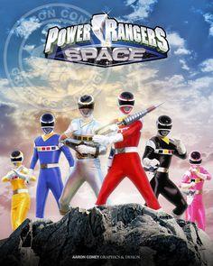 Power Rangers In Space Print