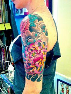 Colourful tattoo.