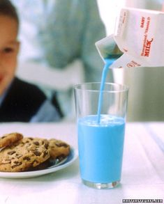 A Colorful Breakfast Surprise  Put blue food coloring in the milk the night before April Fools' Day, and watch your childrens' eyes widen in surprise the next morning.