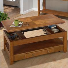 Jofran 480 Series Wood Lift-Top Cocktail / Coffee Table in Oak - 480-1