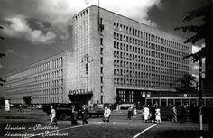 RPPC Postcard Post Office, Helsinki, Vintage Postcards, Finland, Skyscraper, Maine, Multi Story Building, Louvre, Black And White