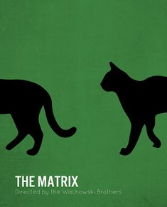 Affiche du film Matrix minimaliste cinéma The par MicrowaveDesigns