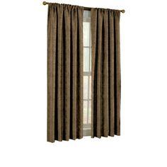 allen   roth�Raja 63-in L Mocha Rod Pocket Curtain Panel
