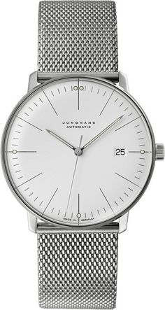 @junghansgermany Max Bill Automatic #bezel-fixed #bracelet-strap-steel #brand-junghans #case-depth-10mm #case-material-steel #case-width-38mm #date-yes #delivery-timescale-7-10-days #dial-colour-silver #gender-mens #luxury #movement-automatic #official-stockist-for-junghans-watches #packaging-junghans-watch-packaging #style-dress #subcat-max-bill #supplier-model-no-027-4002-45 #warranty-junghans-official-2-year-guarantee #water-resistant-waterproof