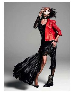 Split-Personality Fashion Editorials - This Vogue Paris August 2013 Spread is Both Good and Punk (GALLERY)