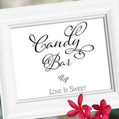 Wedding reception signs Decoration Candy Bar by weddingfusion