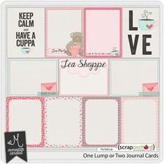 One Lump or Two Journal Cards