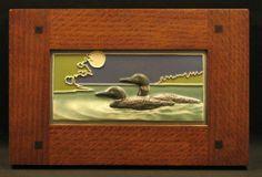 Arts and Craftsman   Framed Medicine Bluff Tiles