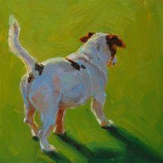 """A Dogs Tail"" - Original Fine Art for Sale - © Julie Kirkland"