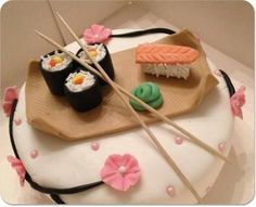 Hahaha as much as I adore sushi this would be a cute birthday cake for myself.