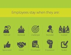 Employees stay when they are...