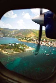Flying into St. Croix by seaplane. I used to do this at least once a week when I worked on STT