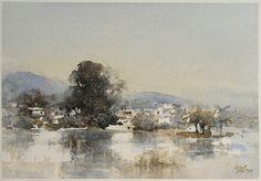 【宜蘭員山 / Yuanshan Township, Yilan County】 watercolor by Huang Hsiao-Hui,36cmx27cm,2015
