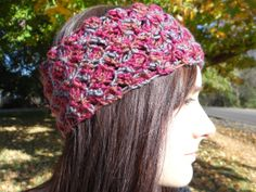 Wide Red and Tan Headband