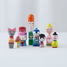 Happy Together Doll Family (Set of 8)  | The Land of Nod $39