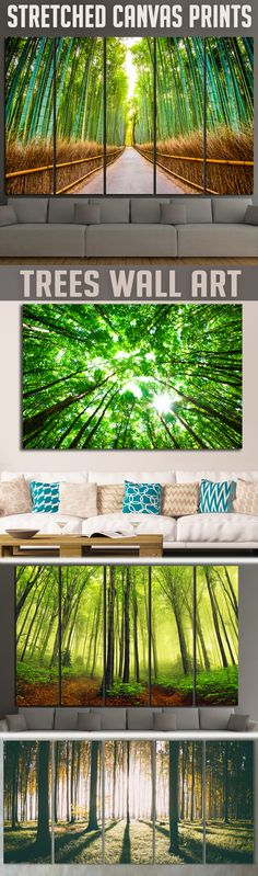 Extra large Trees Wall Art for Home & Office decoration.