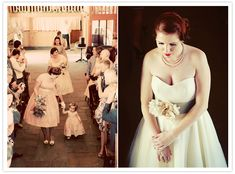 Bardot by Stephanie Allin wedding dress and vintage accessories ©maria farrelly Photography
