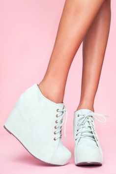 JC 99 Tie Wedge- Mint Suede... I need these to be apart of my shoe collection ASAP!