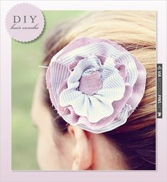 DIY, Do It Yourself, Fleurette Hair Combs, Hair, Comb, Fleurette, Fabric, Sew, | CHECK OUT MORE IDEAS AT WEDDINGPINS.NET | #diyweddings