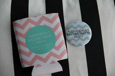 Keeping with the chevron theme, we had neoprene koozies from Lovey ... Personal koozies are a great party favor. Get your Free Proof Today on Kooziez.com