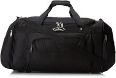 Everest Deluxe Sports Duffel Bag Black One Size -- Check out the image by visiting the link. (Note:Amazon affiliate link)