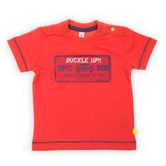 Babyface babykleding jongens shirt rood: Buckle Up | www.kienk.nl